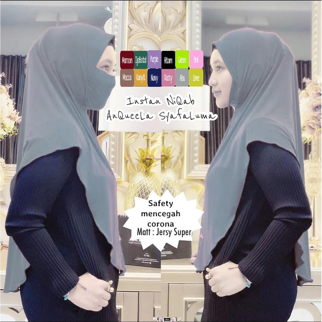 Hijab Instan Niqab Jilbab Masker Anti Corona Virus Debu