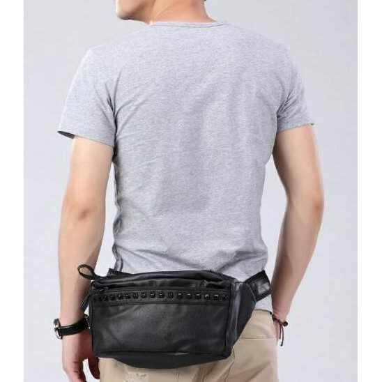 Waist Bag Kulit Tas Dada Pinggang Selempang Pria