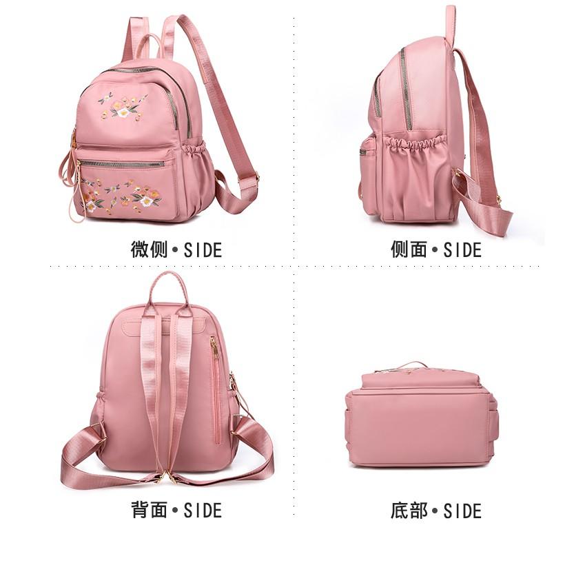 Tas Ransel Wanita Motif Bunga Backpack Cewek Korea Import NY000033