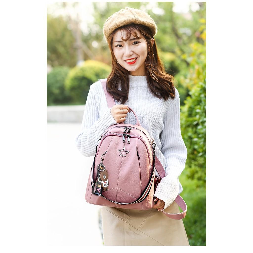 Tas Ransel Wanita Kulit Backpack Cewek Import Korea NY00008
